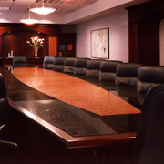 Woodpecker Enterprises: Custom Conference Table with Granite Border