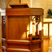 Woodpecker Enterprises - Liturgical Furniture - Pulpit 1